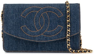 Chanel Pre-Owned 1997 CC stitch chain wallet
