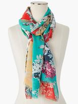 Talbots Fringed Field Flowers Scarf
