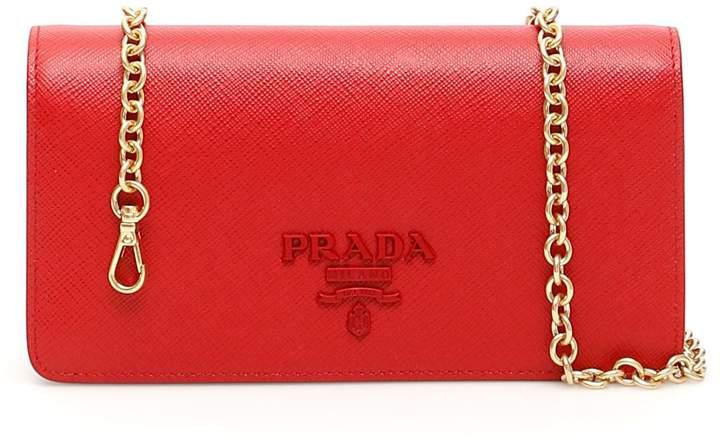 66e95371fda8 Prada Red Chain Strap Handbags - ShopStyle