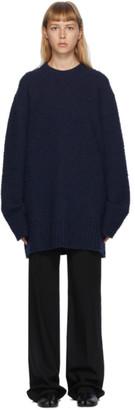 Maison Margiela Navy Pilled Oversized Sweater