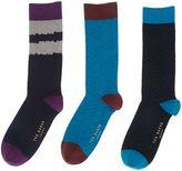 Ted Baker 3 Pack Plain Socks