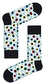 Happy Socks Printed Colorblock Contrast Socks