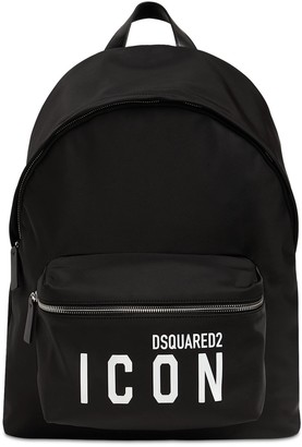 DSQUARED2 Icon Print Nylon Backpack