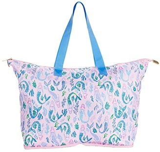 Lilly Pulitzer Getaway Packable Tote (Pink Blossom Girls Night Out) Handbags