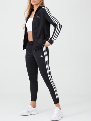 adidas 3 Stripe Tracksuit - Black