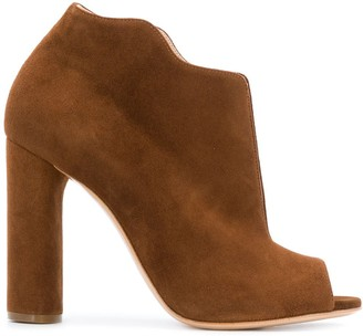 Casadei Wavy Trim Booties