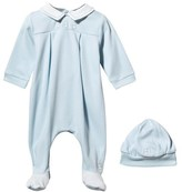 Emile et Rose Pale Blue Collared Babygrow and Hat