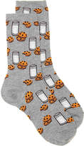 Hot Sox Women's Milk & Cookies Women's Crew Socks
