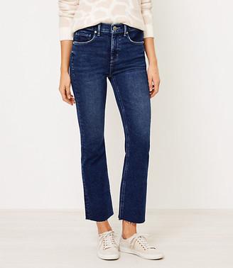 LOFT Curvy Flare Crop Jeans in Bright Authentic Indigo Wash
