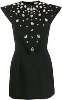 Christopher Kane crystal gem mini dress