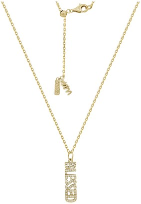 Peace Love World Pave Blessed Pendant w/ Chain,14K Clad
