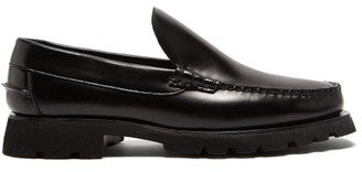 Hereu Roque Sport Chunky-sole Leather Loafers - Black
