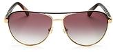 Kate Spade Emilyann Mirrored Aviator Sunglasses, 59mm