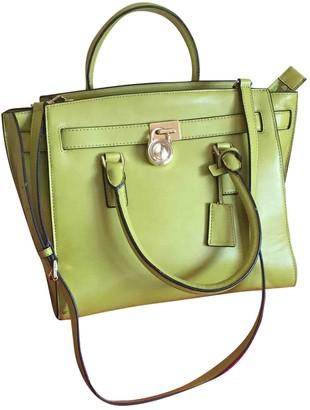 Michael Kors Hamilton Green Leather Handbags