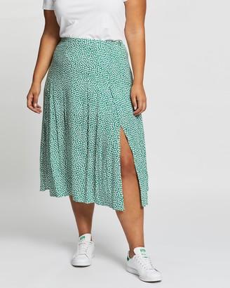 Atmos & Here Atmos&Here Curvy - Women's Green Midi Skirts - Esma Midi Skirt - Size 18 at The Iconic