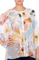 Catherine Malandrino Women's Komai Floral Chiffon Blouse
