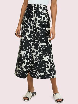 Kate Spade Monstera Grove Jacquard Skirt