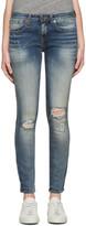 R 13 Indigo Alison Crop Jeans
