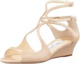 Jimmy Choo Inka Wedge Patent Sandal, Nude