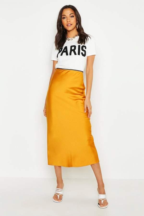 decfa30e2f Mustard Midi Skirt - ShopStyle