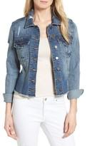 KUT from the Kloth Women's Kara Ripped Denim Jacket