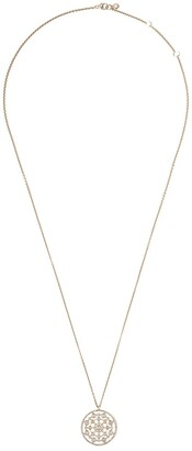 Astley Clarke 14kt gold diamond medium Icon Nova pendant necklace