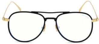 Tom Ford 52MM Blue Block Aviator Optical Glasses