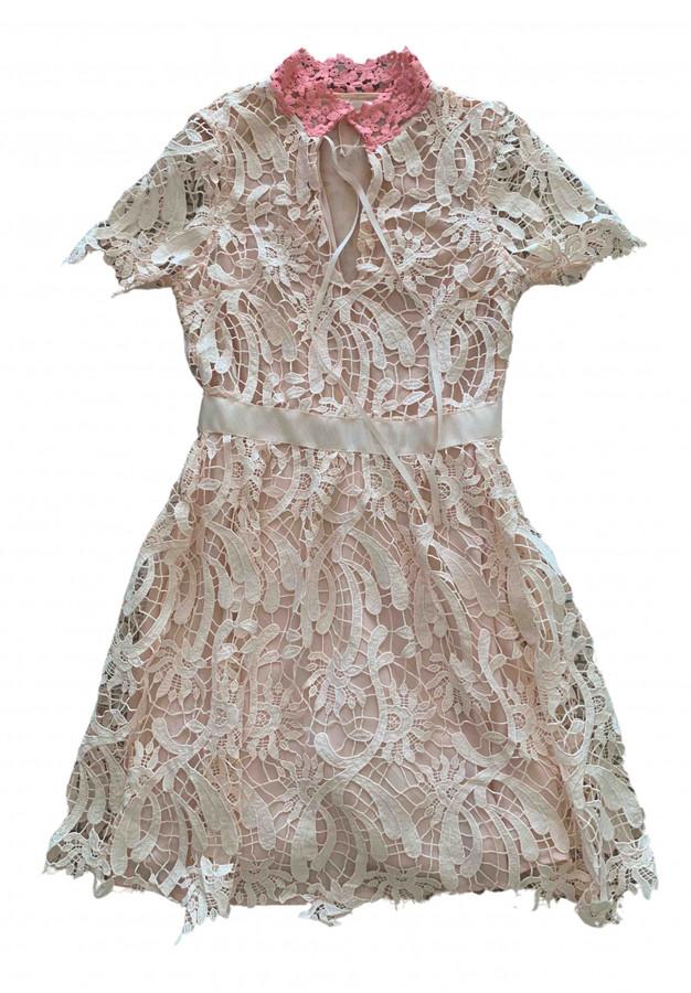 Maje Spring Summer 2019 Pink Lace Dresses