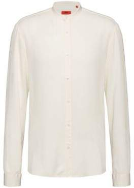 HUGO Extra-slim-fit shirt with stand collar