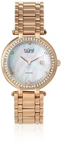 Burgi Women's BUR055RG Swiss Quartz Diamond Bracelet Rose Tone/Pink