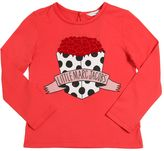 Little Marc Jacobs Flock Print Cotton Jersey T-Shirt