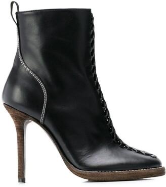 Haider Ackermann Woven Stiletto Boots