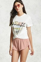 Forever 21 FOREVER 21+ Raw-Cut Terry Cloth Shorts