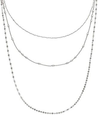 Italian Silver Multi-Chain Layered Necklace, 8.1g
