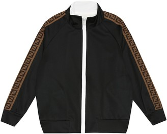 Fendi Kids FF jersey track jacket