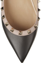 Valentino Rockstud leather point-toe flats