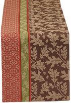 DESIGN IMPORTS Great Oak Stripe Jacquard Cotton Table Runner