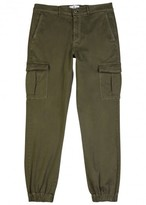 7 For All Mankind Olive Cotton Cargo Trousers