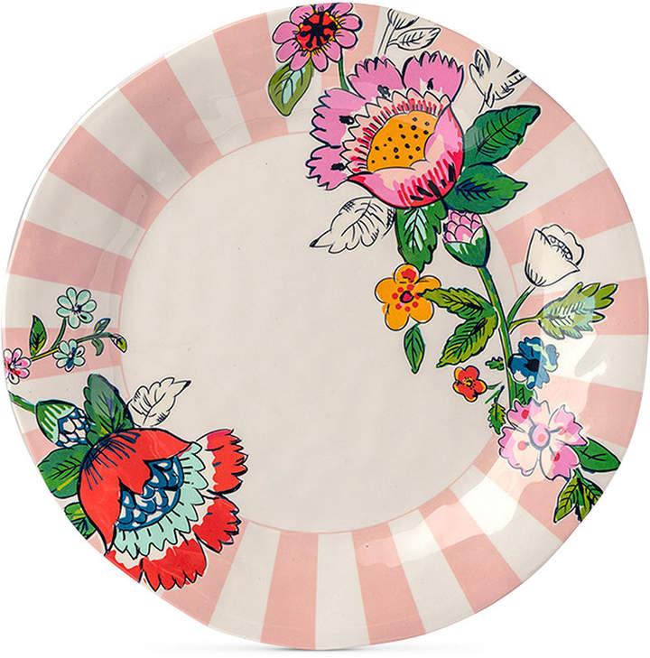 Vera Bradley Coral Floral Melamine Dinner Plate