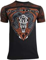 Affliction Men's Kryptek Bighorn Tee Shirt Black/Orange