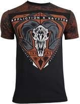 Affliction Men's Kryptek Bighorn Tee Shirt Black/Orange