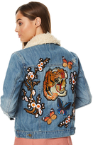 MinkPink Tiger Blossom Womens Denim Jacket Blue