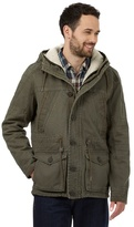 Mantaray Big And Tall Green Fleece-lined Canvas Parka Jacket