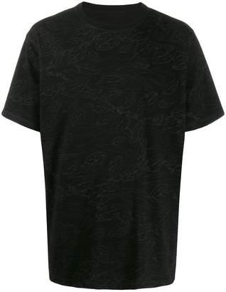 MHI leaves print T-shirt