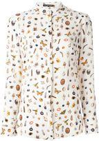 Alexander McQueen Obsession print shirt - women - Silk - 44