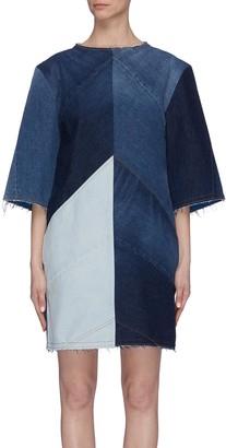 Acne Studios Patchwork denim T-shirt dress