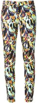 Kenzo 'Torn Flowers' skinny jeans