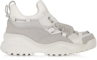 Pinko Cumino White Leather Women's Sneakers