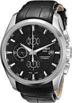 Tissot Men's T0356271605100 T-Trend Couturier Stainless Steel Watch with Leather Band
