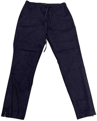 Theory Blue Linen Trousers